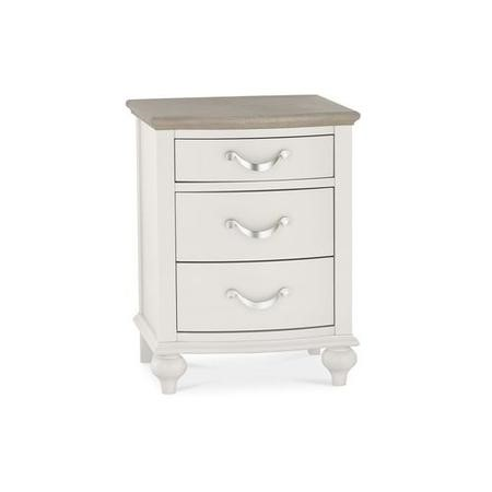 Bentley Designs Montreux Grey and Washed Oak 3 Drawer Nightstand