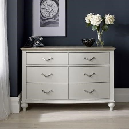 Bentley Designs Montreux Grey and Washed Oak 6 Drawer Wide Chest