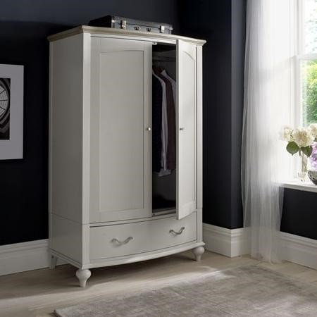 Bentley Designs Montreux Grey Washed Oak & Soft Grey Double Wardrobe