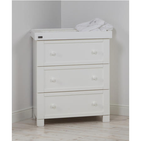 East Coast White 3 Drawer Changing Station with Detachable Changer  - Montreal