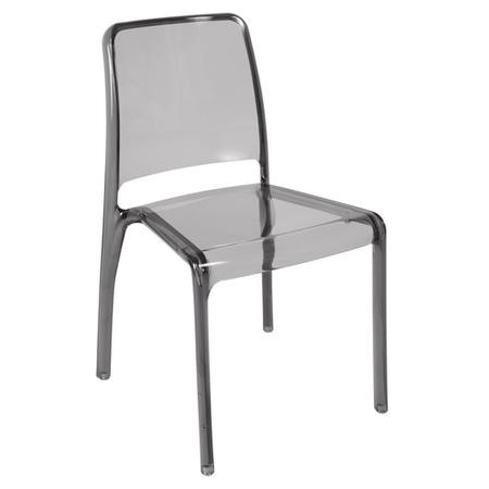 Teknik Office Clarity Smoked Stacking Chair 4-Pack