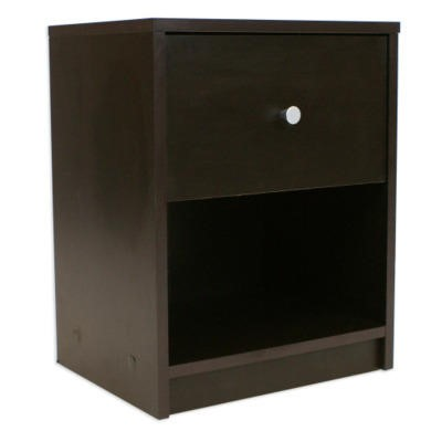 Billi June 1 Drawer Bedside Table In Coffee