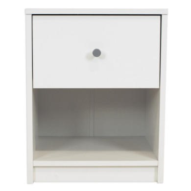 Billi June 1 Drawer Bedside Table In White