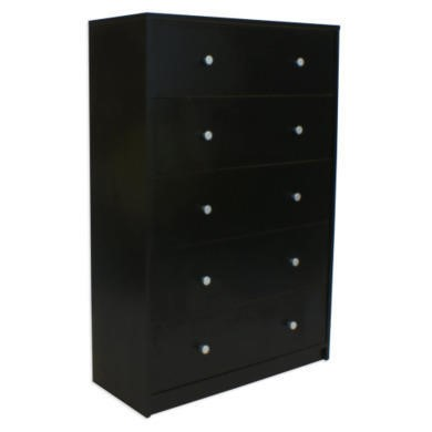 Billi June Large 5 Drawer Chest in Black