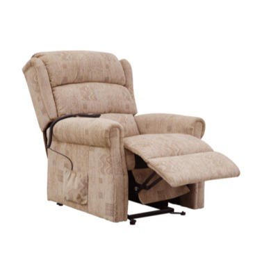 Global Furniture Alliance  Cambridge Electric Fully Upholstered Recliner in Biscuit Mosaic
