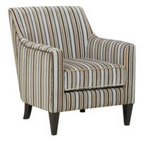 Global Furniture Alliance  Bloomsbury Fabric Accent Chair in Silver Stripe