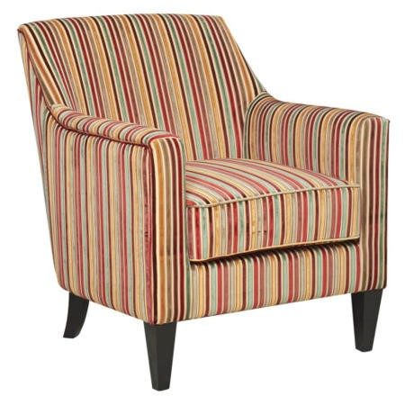 Bloomsbury Fabric Accent Chair In Candy Stripe Furniture123