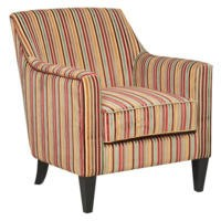 Global Furniture Alliance  Bloomsbury Fabric Accent Chair in Candy Stripe