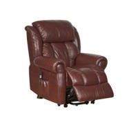 Global Furniture Alliance  Wiltshire Top Grain Leather Riser Recliner in Chestnut