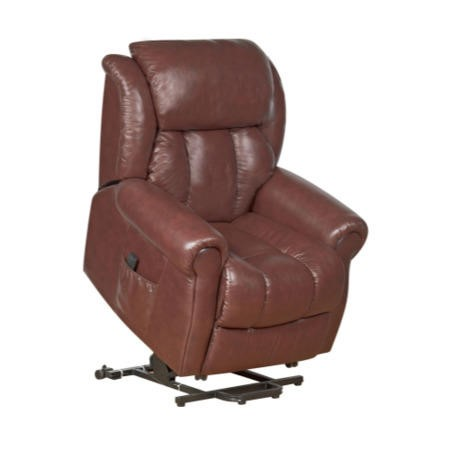 Wiltshire Top Grain Leather Riser Recliner in Chestnut