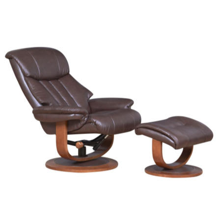 Global Furniture Alliance Hereford Leather Swivel Recliner