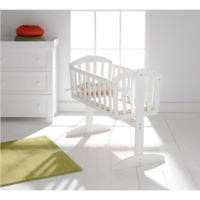 East Coast Vienna Swinging Crib in White