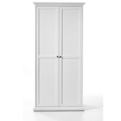 Paris 2 Door Wardrobe in White