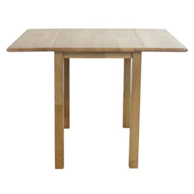 Furniture Link Norway Natural Oak Rectangular Drop Leaf Dining Table Furnit
