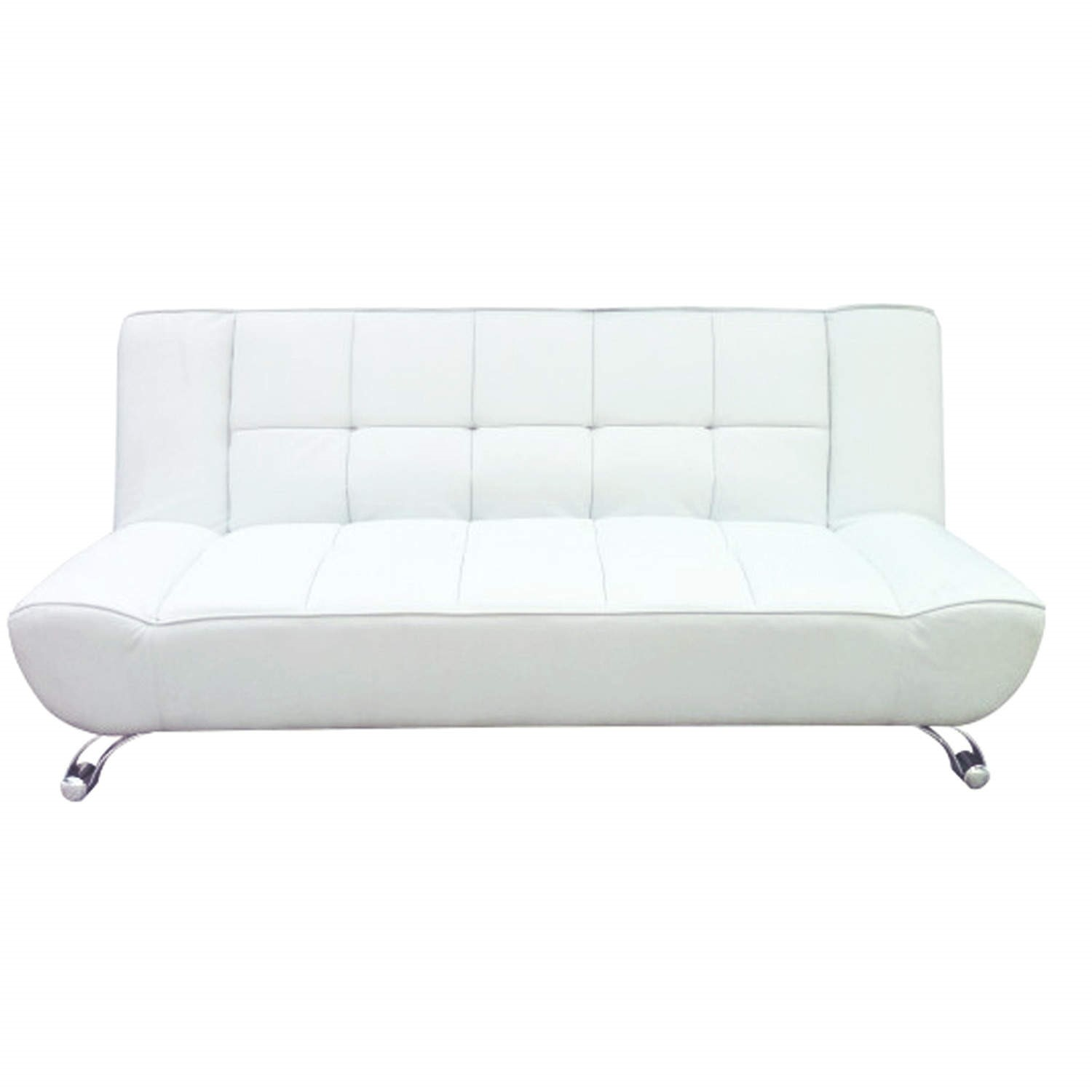 Clearance   Vogue Leather Sofa Bed in White   Moderate Cosmetic