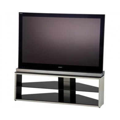 Refurbished Ex Display  As new but box opened  Alphason TSI12803B Tensai TV stand  Up to 55 inch