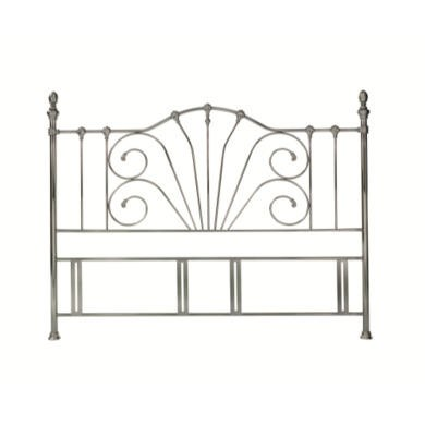 GRADE A2 - Bentley Designs Rebecca Headboard - kingsize in antique nickel