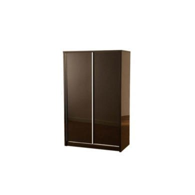 GRADE A3 - Seconique Charisma High Gloss Sliding 2 Door Wardrobe in Black