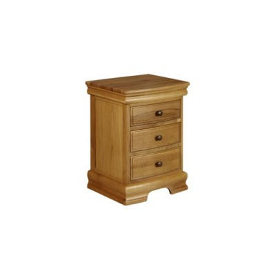GRADE A2  - Wilkinson Furniture Rennes Solid Oak 3 Drawer Dressing Chest