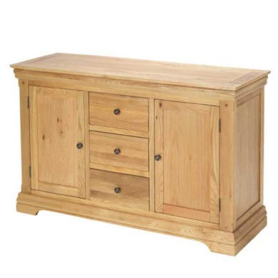 GRADE A1 - Heritage Furniture Bayonne Oak Large Sideboard