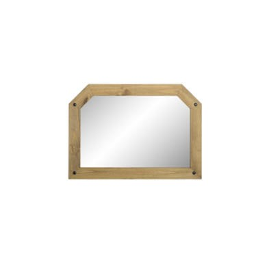 77177495/1/WHM104DWP GRADE A2 - Seconique Corona Over Mantle Mirror - Distressed Waxed Pine