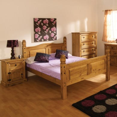 GRADE A1 - Seconique Original Corona Pine Mexican Bed - kingsize