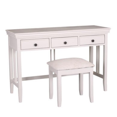 GRADE A2 - Savannah Solid Acacia Wood Dressing Table in Stone White