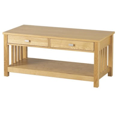 GRADE A2 - Seconique Ashmore 2 Drawer Coffee Table