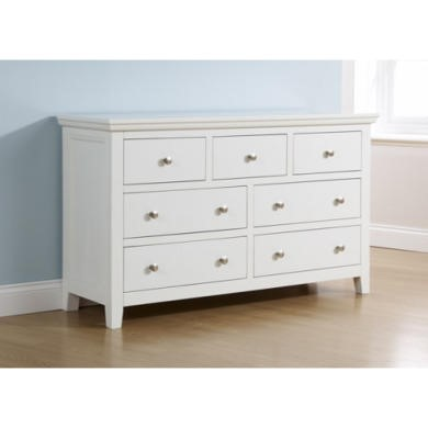 GRADE A4 - Mountrose Venice Painted White Chest of 7 Drawers