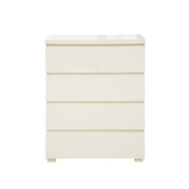 GRADE A1 - As new but box opened - LPD Limited Puro 4 Drawer Chest in Cream