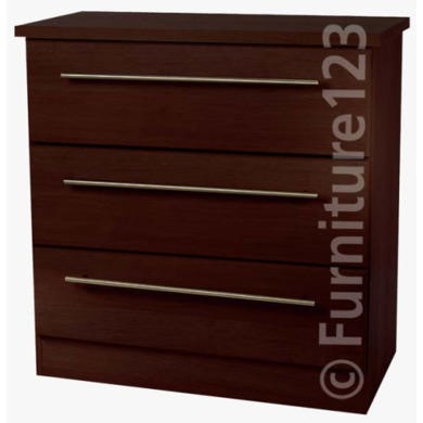 GRADE A2 - Welcome Furniture Loxley 3 Drawer Chest in Walnut