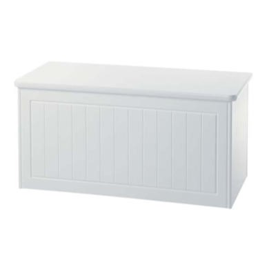 GRADE A1 - Welcome Furniture Cornwall White Blanket Box
