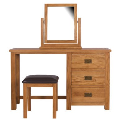GRADE A3 - Rustic Saxon Oak Dressing Table