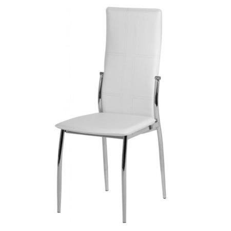 Grade A1 Seconique Pair Of Berkley White Dining Chairs Furniture123