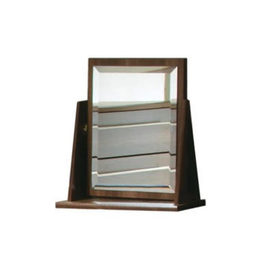 GRADE A1 - Welcome Furniture Loxley Single Vanity Mirror in Walnut