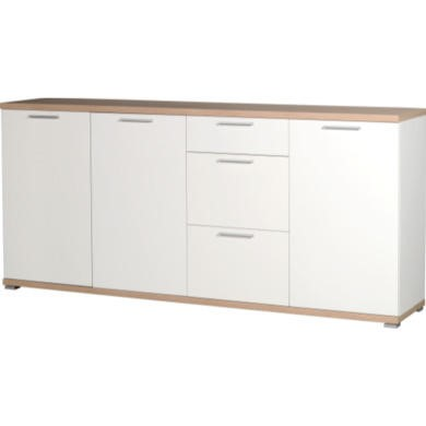GRADE A2 - Germania Large Sideboard in White and Oak