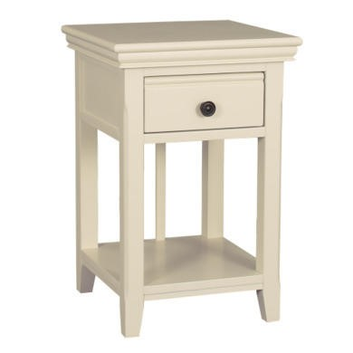 GRADE A1 - Savannah Solid Acacia Wood Bedside Table in Ivory