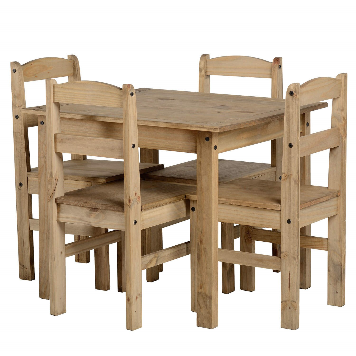 Seconique Panama Dining Set   Natural Wax Pine Dining Table U0026amp; 4 Natural  Wax Pine