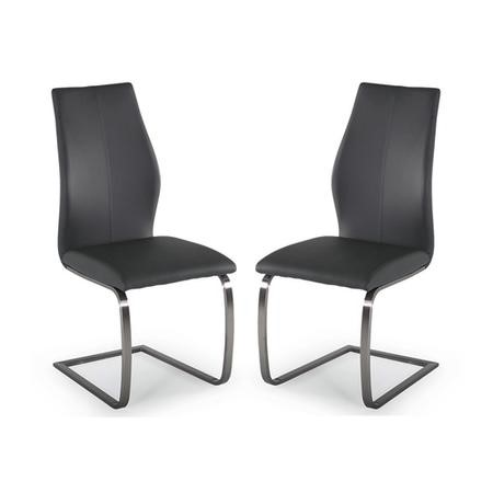 Grade A1 Irma Pair O Cantilever Dining Chairs In Grey Furniture123