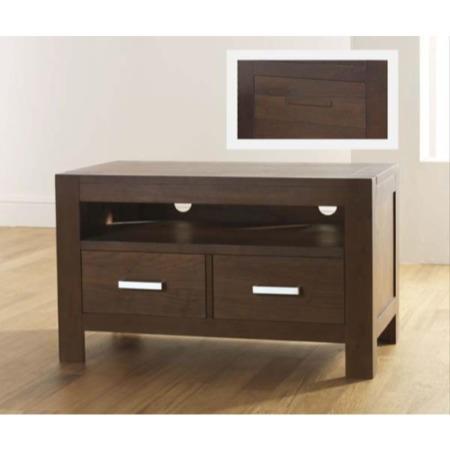 Grade A2 Bentley Designs Lyon Walnut Dark Wood Tv Unit