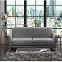 GRADE A3 - Archer 2 Seater Fabric Sofa Bed in Grey