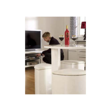 Seconique Charisma High Gloss Dining Set Amp 4 White