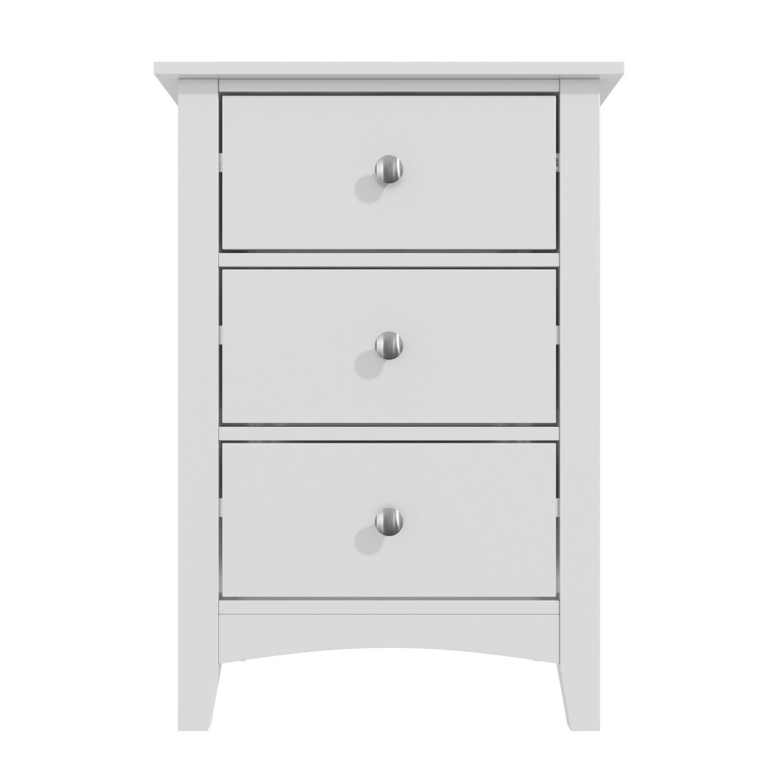 Bedside Tables Finch 3 Drawer Bedside Cabinet In Light Grey