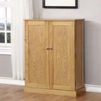 Windsor Solid Oak Shoe Storage Cupboard - 15 Pairs