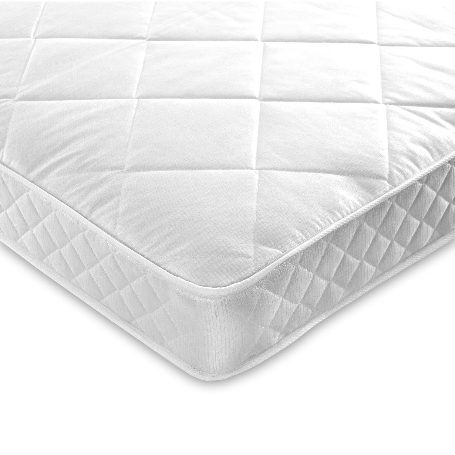 Luxury quilted small double 4ft coil sprung mattress - medium/firm
