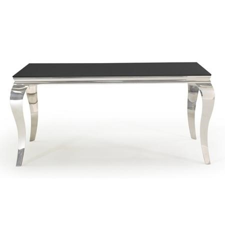Louis Mirrored 160cm Dining Table in Black - Vida Living - Seats 4-6