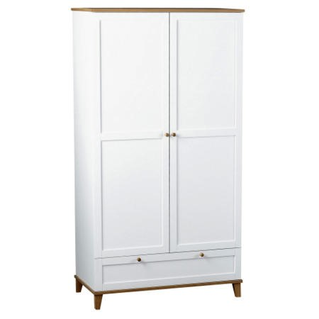 Seconique Arcadia Ash 2 Door 1 Drawer Wardrobe