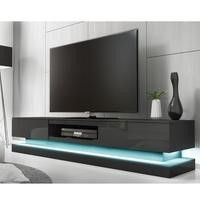 Dark Grey High Gloss TV Unit