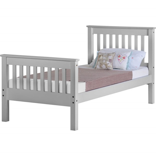 GRADE A1 - Seconique Monaco Single Bed Frame in Grey