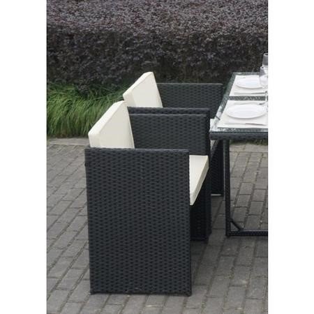 Fortrose Black Rattan Dining Chairs Set of 4